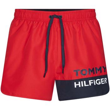 tekstylia Męskie Kostiumy / Szorty kąpielowe Tommy Hilfiger UM0UM01683 Czerwony