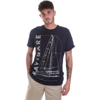 tekstylia Męskie T-shirty z krótkim rękawem Navigare NV31109 Niebieski