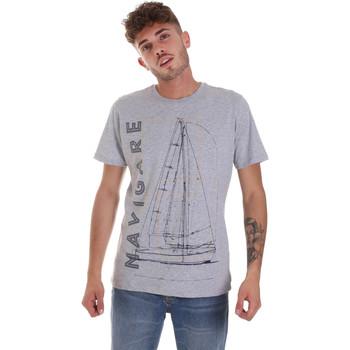 tekstylia Męskie T-shirty z krótkim rękawem Navigare NV31109 Szary