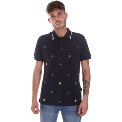 tekstylia Męskie Koszulki polo z krótkim rękawem Navigare NV82120 Niebieski