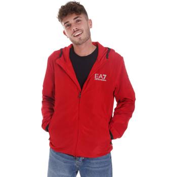 tekstylia Męskie Bluzy dresowe Ea7 Emporio Armani 8NPB04 PNN7Z Czerwony