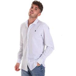 tekstylia Męskie Koszule z długim rękawem U.S Polo Assn. 58829 52741 Niebieski