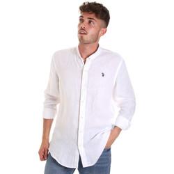 tekstylia Męskie Koszule z długim rękawem U.S Polo Assn. 58667 50816 Biały