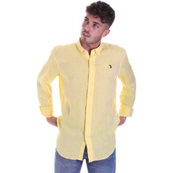 tekstylia Męskie Koszule z długim rękawem U.S Polo Assn. 58574 50816 Żółty