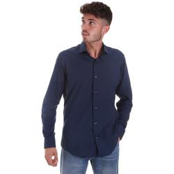 tekstylia Męskie Koszule z długim rękawem Les Copains 18P.884 P3196SL Niebieski