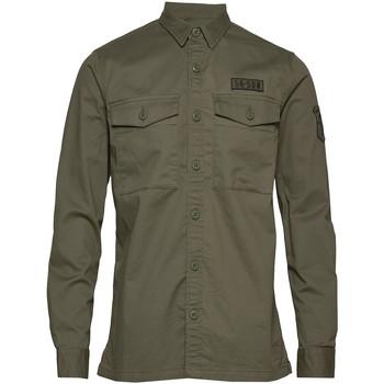 tekstylia Męskie Koszule z długim rękawem Superdry M4010023A Zielony