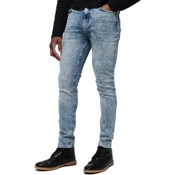 tekstylia Męskie Jeansy Superdry M70015ET Niebieski