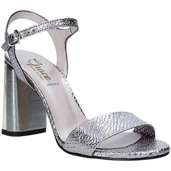Buty Damskie Sandały Grace Shoes 2384L007 Szary