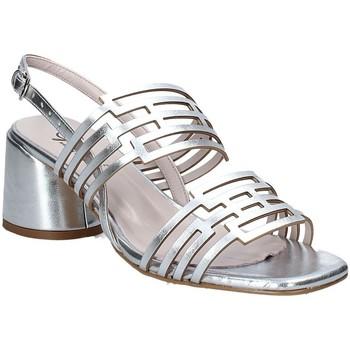 Buty Damskie Sandały Grace Shoes 123001 Srebro
