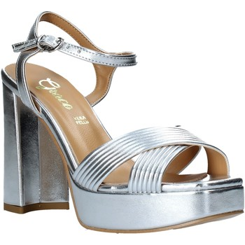 Buty Damskie Sandały Grace Shoes 174003 Srebro