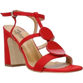 Buty Damskie Sandały Grace Shoes 2384008 Czerwony