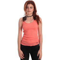 tekstylia Damskie Topy na ramiączkach / T-shirty bez rękawów Fornarina BE175J75H26368 Pomarańczowy