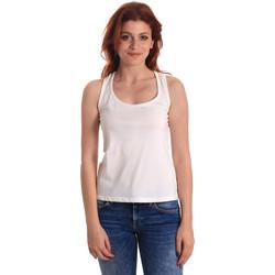 tekstylia Damskie Topy na ramiączkach / T-shirty bez rękawów Fornarina SE175L04JG0709 Biały