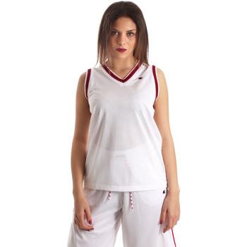 tekstylia Damskie Topy na ramiączkach / T-shirty bez rękawów Champion 111382 Biały