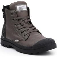 Buty Damskie Trampki wysokie Palladium Manufacture Pampa UBN ZIPS 96857-213-M brązowy