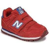 Buty Chłopiec Trampki niskie New Balance 373 Czerwony
