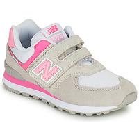Buty Dziewczynka Trampki niskie New Balance 574 Szary / Różowy