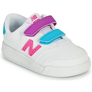 Buty Dziewczynka Trampki niskie New Balance COURT Biały / Różowy