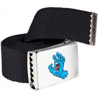 Dodatki Męskie Paski Santa Cruz Screaming mini hand belt Czarny