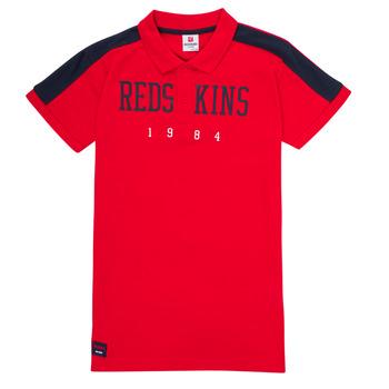 tekstylia Chłopiec Koszulki polo z krótkim rękawem Redskins PO180117-RED Czerwony