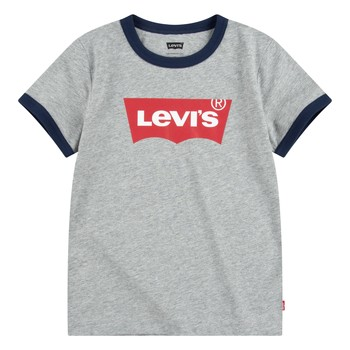 tekstylia Chłopiec T-shirty z krótkim rękawem Levi's BATWING RINGER TEE Szary