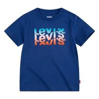 tekstylia Chłopiec T-shirty z krótkim rękawem Levi's 8EC826-U29 Marine