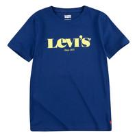 tekstylia Chłopiec T-shirty z krótkim rękawem Levi's GRAPHIC TEE Niebieski