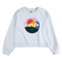 tekstylia Dziewczynka Bluzy Levi's 3ED410-001 Biały