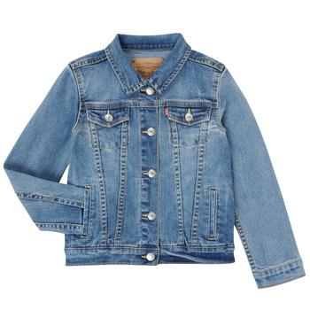 tekstylia Dziewczynka Kurtki jeansowe Levi's 3E4388-M0K Niebieski