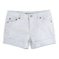 tekstylia Dziewczynka Szorty i Bermudy Levi's 4E4536-001 Biały