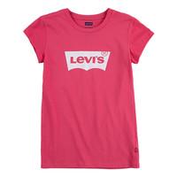 tekstylia Dziewczynka T-shirty z krótkim rękawem Levi's BATWING TEE SS Różowy
