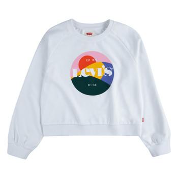 tekstylia Dziewczynka Bluzy Levi's 4ED410-001 Biały