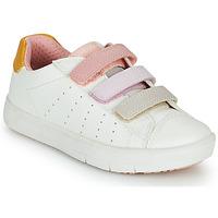 Buty Dziewczynka Trampki niskie Geox SILENEX GIRL Biały / Różowy / Beżowy
