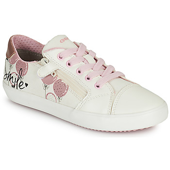 Buty Dziewczynka Trampki niskie Geox GISLI GIRL Biały / Różowy