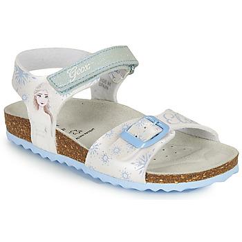 Buty Dziewczynka Sandały Geox ADRIEL GIRL Biały / Niebieski