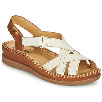 Buty Damskie Sandały Pikolinos CADAQUES W8K Biały / Brązowy