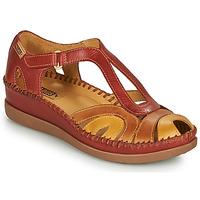 Buty Damskie Sandały Pikolinos CADAQUES W8K Czerwony / Beżowy