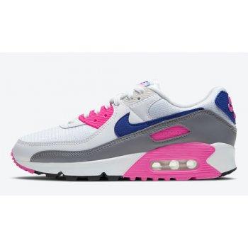 Buty Trampki wysokie Nike Air Max 90 WMNS ?Concord? White/Vast Grey-Concord-Pink Blast