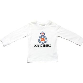 tekstylia Chłopiec T-shirty z długim rękawem Iceberg TSICE0316B Biały