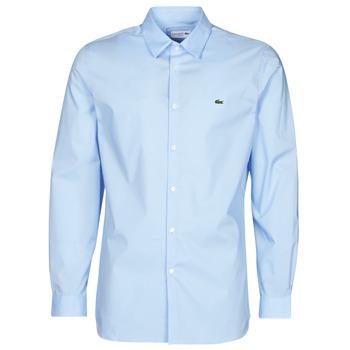 tekstylia Męskie Koszule z długim rękawem Lacoste PITTA Niebieski