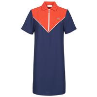 tekstylia Damskie Sukienki krótkie Lacoste FRITTI Czerwony / Niebieski
