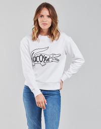 tekstylia Damskie Bluzy Lacoste SFORZA Biały
