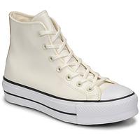 Buty Damskie Trampki wysokie Converse CHUCK TAYLOR ALL STAR LIFT ANODIZED METALS HI Biały / Beżowy