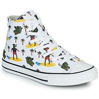 Buty Chłopiec Trampki wysokie Converse CHUCK TAYLOR ALL STAR CROCO SURF HI Biały / Zielony