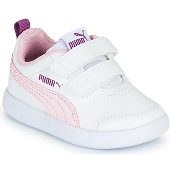 Buty Dziewczynka Trampki niskie Puma COURTFLEX INF Biały / Różowy