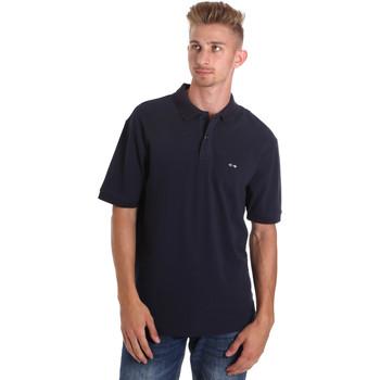 tekstylia Męskie Koszulki polo z krótkim rękawem Les Copains 9U9015 Niebieski