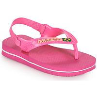 Buty Dziewczynka Japonki Havaianas BABY BRASIL LOGO II Różowy