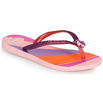 Buty Dziewczynka Japonki Havaianas KIDS SLIM GLITTER II Różowy