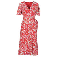tekstylia Damskie Sukienki długie Lauren Ralph Lauren ABEL Czerwony