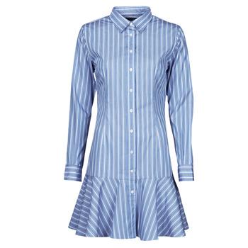 tekstylia Damskie Sukienki krótkie Lauren Ralph Lauren TRIELLA Niebieski / Biały